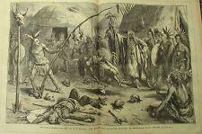 JOURNAL DES VOYAGES N° 172 de 1880 MEDECINE PEAUX ROUGES / POLYDORE MARASQUIN