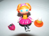Lalaloopsy Mini Doll BEA SPELLS A LOT School Bus Version with Pet & Safety Cone