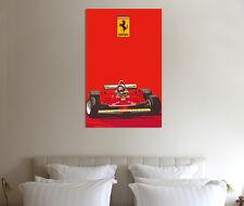 GILLES Villeneuve 30x20 pollici tela FERRARI 312 Foto Incorniciata F1 Print