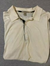 Burberry Brit Men's Short-Sleeve Pique Polo Thin Shirt Nova Check Pattern White
