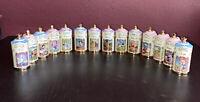 Walt Disney Spice Jar Collection Lenox Lot of 14