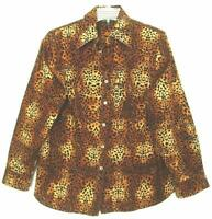 NWOT WOMENS JONES NEW YORK 100% COTTON LEOPARD PRINT BLOUSE PLUS SIZE 1X