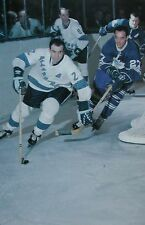 HOCKEY PRINT PHOTO LEO BOIVIN  PITTSBURGH VS TORONTO LEAF FRANK MAHOVLICH  FM15