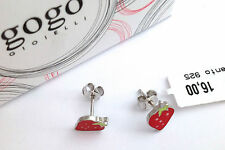 """ORECCHINI """"FRAGOLE"""" IN ARGENTO 925 - 925 STERLING SILVER STRAWBERRIES  EARRINGS"""