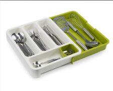 JosephJoseph Expandable DrawerStore White/green Cutlery Tray