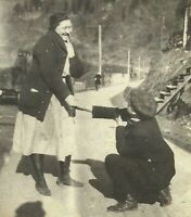 West Virginia Appalachia Boy Proposing to Mother 1915 Antique Photo