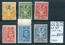 Thailand 1910 - 1917 run of 6 mint stamps all in fine condition (2019/04/15#05)