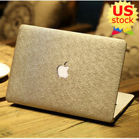 Gold Silk Leather Hard Case Cover Sleeve For Macbook Air Pro 13'' & Retina