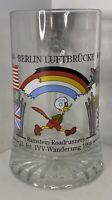 Vintage Ramstein Roadrunner 23 Int IVV- Wanderung 1998 Glass Beer Mug Stein VTG