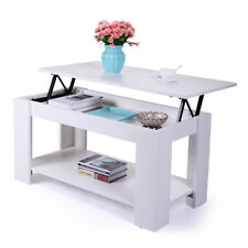 Coffee End/Tea Table w/Lift top with Storage Living Room Modern Furniture White
