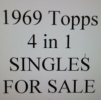 1969 Topps Four-in-one (4 in 1) singles $0.99 ea SEE LIST!!        YOU PICK!!