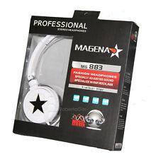 CUFFIE STEREO MP3 PC SPORT PIEGHEVOLE ETERNAL STAR BIANCO BIANCA STELLA NERO