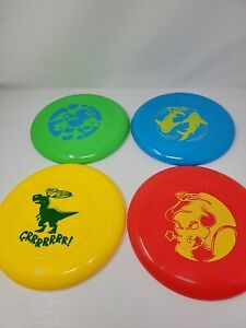 4 Wham-O Frisbee Discs Green - Blue - Yellow - Red  NEW Free Shipping