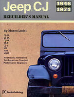 JEEP CJ REBUILDERS MANUAL GUIDE BOOK RESTORATION SHOP REPAIR LUDEL REBUILDER