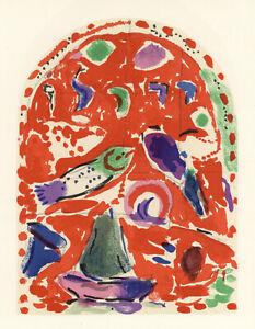Marc Chagall Jerusalem Windows - Twelve Tribes of Israel - set of 12 Lithographs