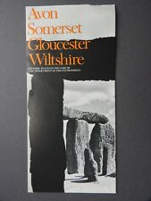 1976 AVON SOMERSET HISTORIC PLACES BROCHURE BY DEPT OF ENVIRONMENT