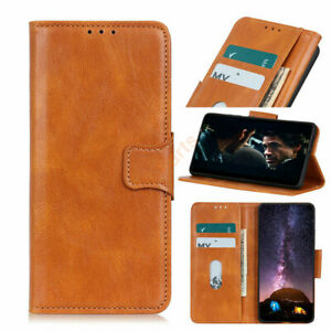 For LG V50 / K50 / Stylo 5 Retro PU Leather Wallet Purse Card Slots Case Cover