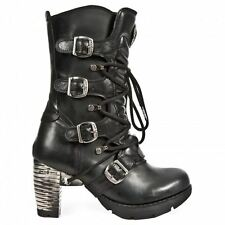 Rock M.tr003-s1 HEELS BOOTS Real Leather Gothic Punk Skirt 37