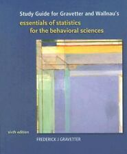 Study Guide for Gravetter/Wallnau's Essentials of Statistics for Behavioral 6thE