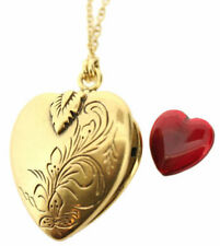 Pilgrim Valentine Twin Chain Locket Necklace, Red/Gold