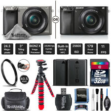 Sony Alpha a6000 Mirrorless Digital Camera + 16-50mm Lens - Choose Your Lens Kit