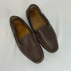 Ecco Brown Leather Driving Moccasins Mens Size 9.5
