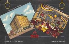 Coeur D'Alene Hotel Spokane, Washington Vintage Linen Postcard ca 1940s