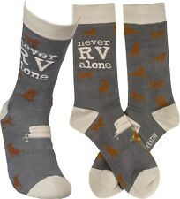 Primitives by Kathy Never Rv Alone Dog socks One Size fits most