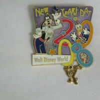Disney New Year 2008 Chip Dale Donald Goofy Pin