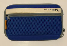 Nintendo DS Carrying Case Blue White Zippers