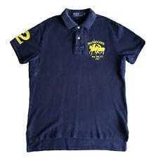 Mens Polo Ralph Lauren Polo shirt Sz Medio Big Pony Azul Marino Nueva York 1967