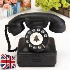 Vintage Style Rotary Telephone Desk Antique Old Phone Figurine Model Decor New
