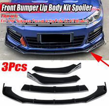 Front Bumper Lip Spoiler Splitters Gloss Black For VW Golf 6 VI MK6 MK7 GTI R