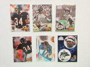 Lot of 6 1994 Ted Williams Walter Payton: WP1/3/4/5/8, Coin #13 with Payton/Saye