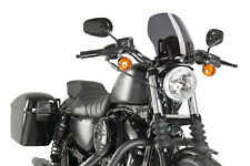 SAUTE VENT NAKED N.G. TOURING PUIG HARLEY D. SPORTSTER IRON 2013 FUME FONCE