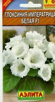 "Gloxinia hybrid ""Empress"" White F1. High Quality"