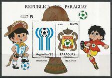 STAMPS-PARAGUAY. 1979. Espana 82 World Cup Football Miniature Sheet. MNH.