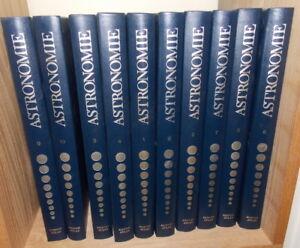 ASTRONOMIE   ENCYCLOPEDIE ATLAS DU CIEL EN  10 VOLUMES COLLECTION COMPLETE