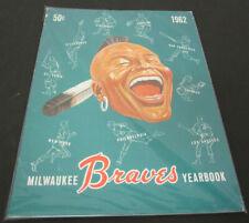 1962 Vintage Milwaukee Braves Color Vintage Year Book Yearbook
