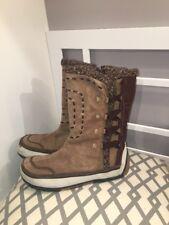 Merrell Puffin Boots Tan Polartec Primaloft Womens 9.5 Tan Leather High