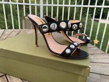 Rupert Sanderson Alena Soda Caps Mules Slide Sandals Size 36