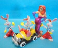 Disney ROGER RABBIT : Serie komplett 5 Figuren mit JESSICA BULLY 1988