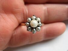 9 Carat Yellow Gold Pearl Art Deco Fine Jewellery
