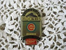 Colorado Rockes Pin Vs. Chicago Cubs Inagural Season July 1993 Coca Cola Sponsor