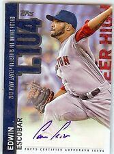 EDWIN ESCOBAR Auto 2015 Topps Autograph Career High Red Sox