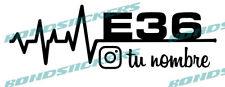 Vinilo de corte Pegatina LINEA VIDA ELECTRO E36 PERSONALIZABLE BMW SERIE 3 M