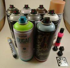 New Spray Paint Graffiti Lot Of 9 Cans Of Yard Master, Ironlak, & Grog Markers