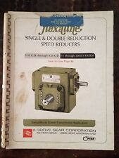 Grove Gear Flexaline Single & Double Reduction Speed Reducers Spec  Parts List B