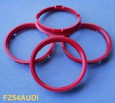 (FZ54AUDI) 4 Stück  Zentrierringe  73,0 / 66,45 mm dunkelrot für Alufelgen