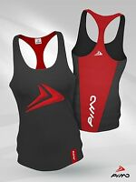 PIMD Deity Female Vest - Black/ Red Running Racer Gym Sports Top Workout Lift
